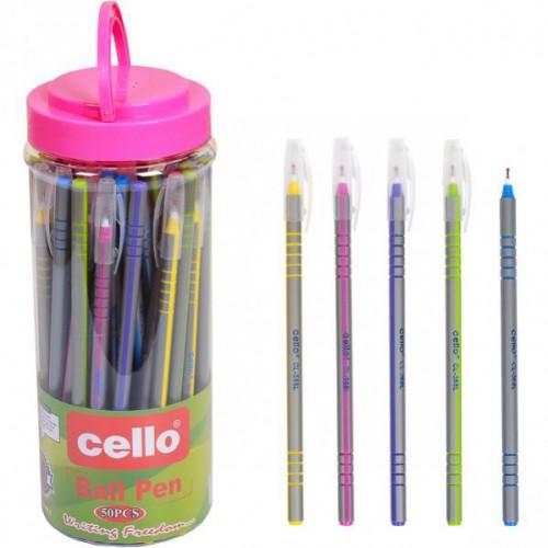 """Ручка шариковая на масляной основе, 0,7мм, синяя """"Cello"""""""