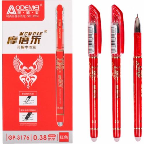 """Ручка гелевая """"пишет-стирает"""" 0,38мм, красная"""