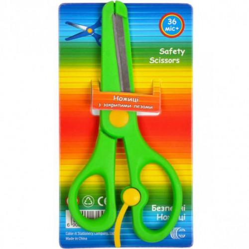"""Ножницы детские безопасные 13,5см(с закругленными наконечниками и закрытыми лезвиями) """"С"""""""