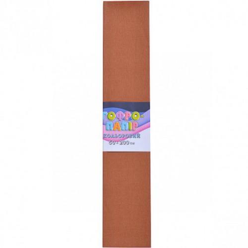 Гофрированная бумага 50*200см, светло-коричневый, 17г/м2 75%