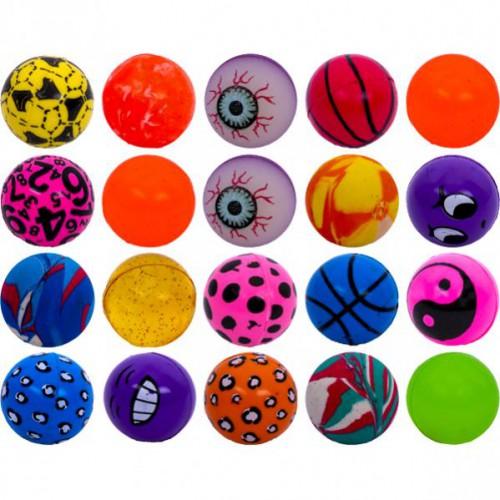 Мяч попрыгунчик разноцветный 32мм
