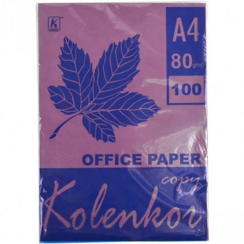 Бумага для ксерокса А4 100л, 80 г/м2 Интенсив, темно-фиолетовая