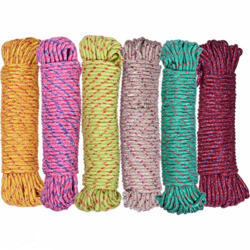 Веревка бытовая цветная 20м, ⌀6мм