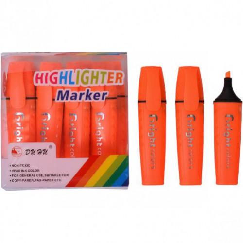 Текстовыделитель на спиртовой основе, со скошенным наконечником, оранжевый