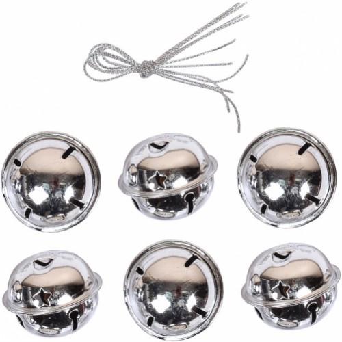 Набор шаров металлических с колокольчиком Ø2см (6шт)