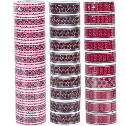 Скотч декоративный «Вышиванка» МИКС 1,5*5м