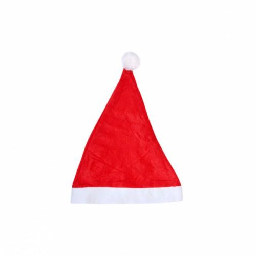 """Шапка Деда Мороза красная с белой окантовкой """"малая"""", объем 46см, высота 30см"""
