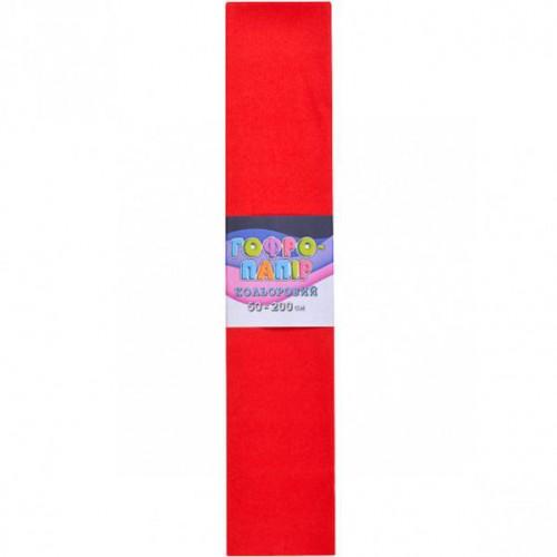Гофрированная бумага 50*200см, красный, 17г/м2 75%