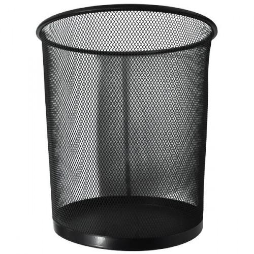 Корзина для бумаг металлическая сетка, 23*27*19см, черная
