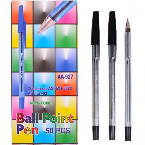 """Ручка шариковая 927 1мм, черная """"С"""""""