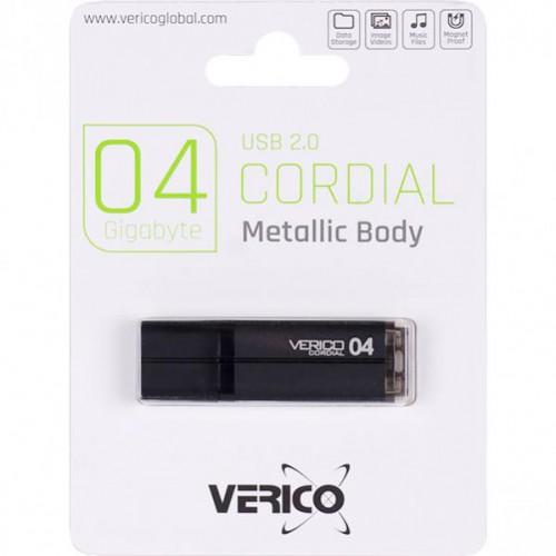 Флешка Verico USB 4Gb Cordial Black