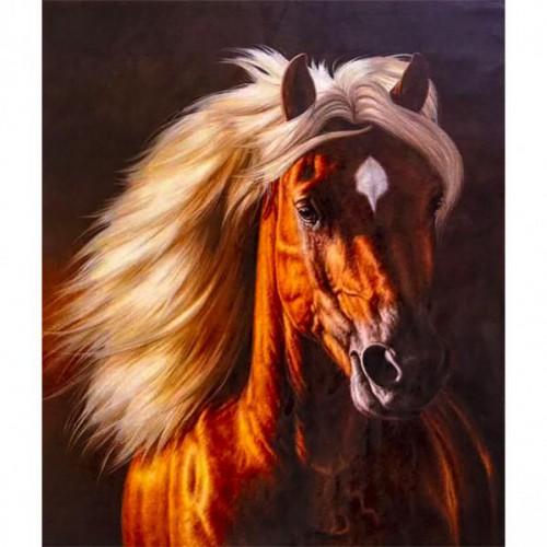 "Картина по номерам ""Лошадь-2"" 40*50см"