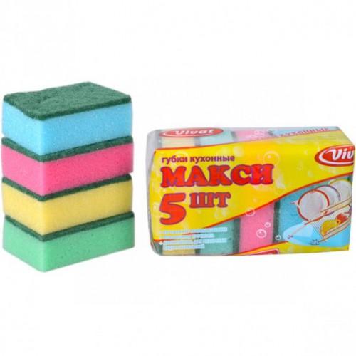 """Губка для мытья посуды """"Макси"""" №5, 8,5*6*3см (цена за 5шт)"""
