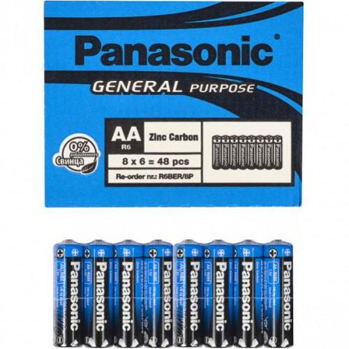Батарейка Panasonic АА R6BER General Purpose 1,5V, тип zinc carbon