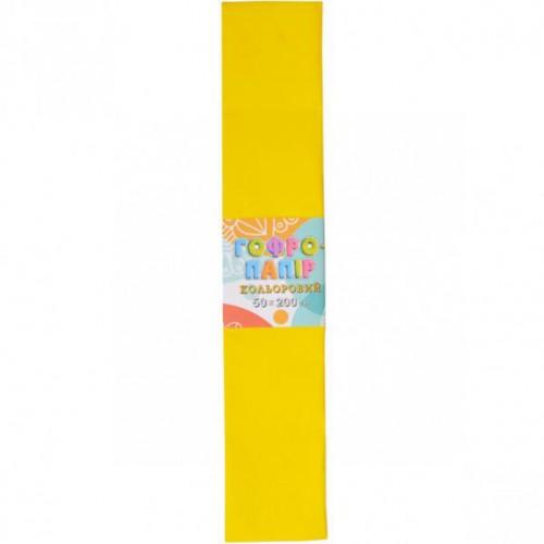 Гофрированная бумага 50*200см, желтый, 17г/м2 20%