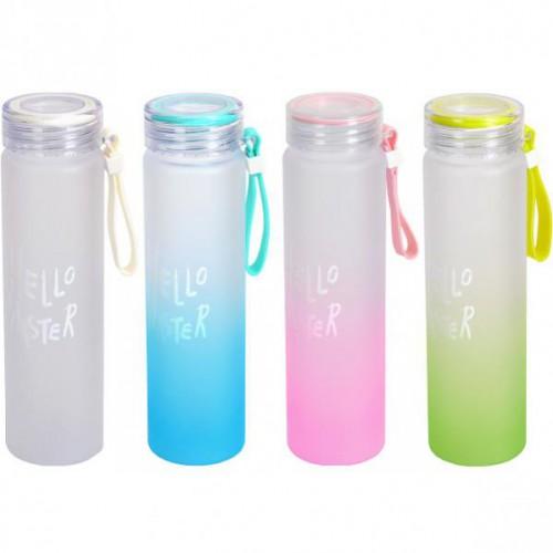 """Бутылка для воды пластик. """"Двухцветная"""" 0,5л"""