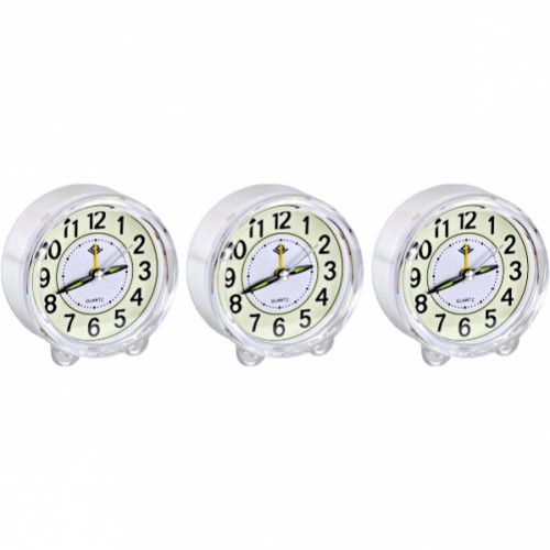 Настольные часы - будильник «Круг» с подсветкой 8,5*4см