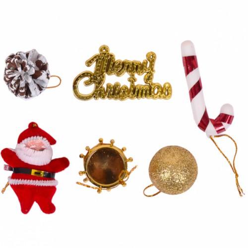 Набор новогодних подвесных украшений на 6 мини игрушек