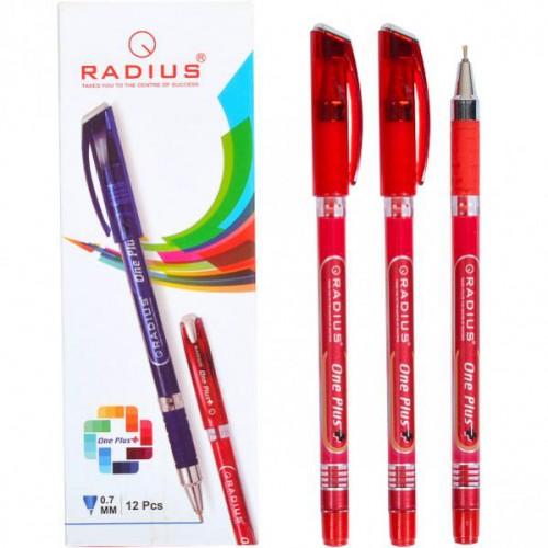 """Ручка шариковая на масляной основе """"One Plus"""", 0,7мм, красная RADIUS"""
