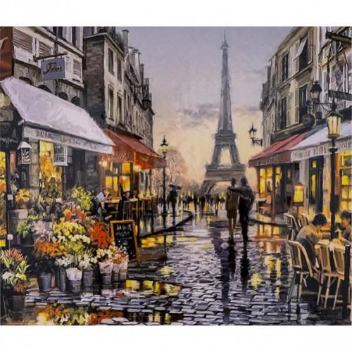 "Алмазная живопись 40*50см ""На улицах Парижа"" 9+"