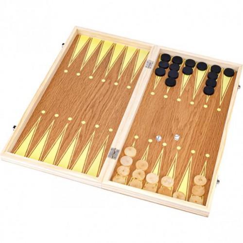 Шахматы деревянные 3 в 1 40см