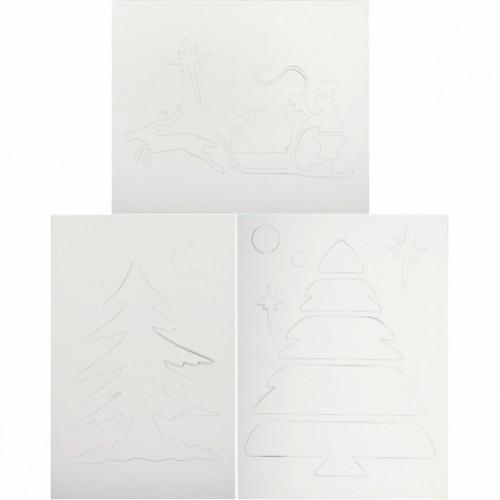 Новогодние трафареты 8л, формат А3-2шт, А4-2шт, А5-4шт
