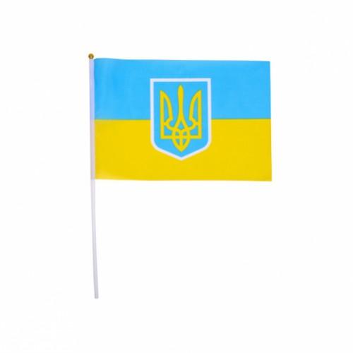 Флаг Украины 20*28см (длина штока 40см)