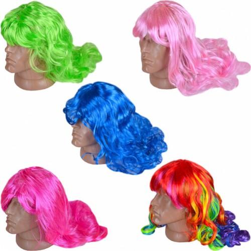 Парик «Волосы цветные» 60см