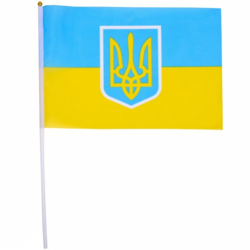 Флаг Украины 30*45см (длина штока 60см)