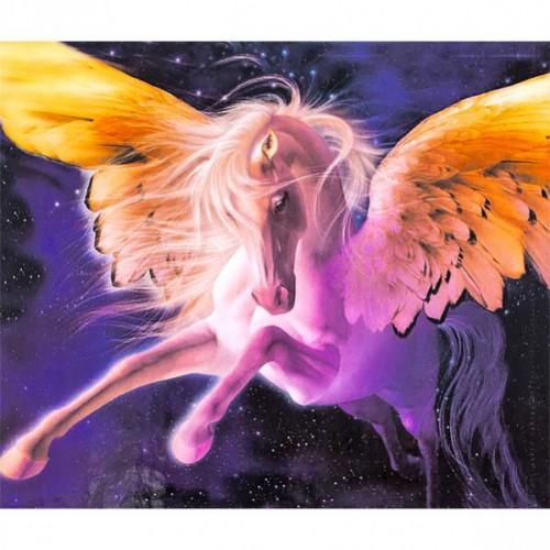 """Картина по номерам """"Сказочная лошадь с крыльями"""" 40*50см"""