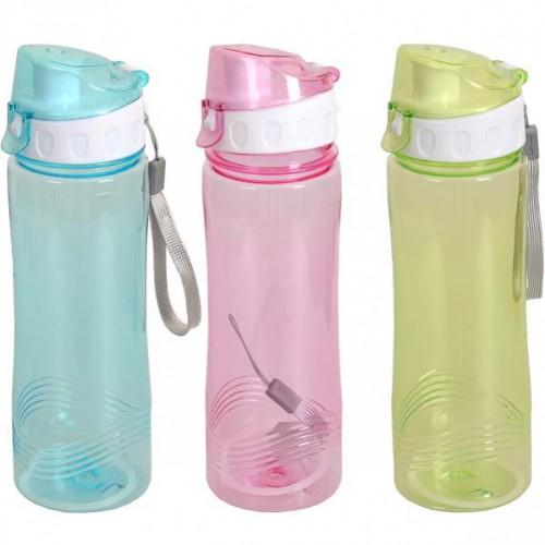 """Бутылка для воды пластик. спорт """"Кольца"""" 0,5л"""