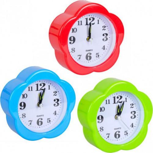 Настольные часы 10*10*4см с будильником