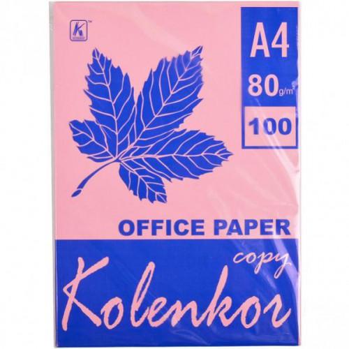 Бумага для ксерокса А4 100л, 80 г/м2 Пастель розовая