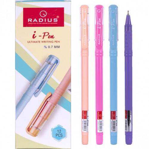 """Ручка шариковая """"i-Pen"""" на масляной основе цветной матовый корпус 0.7мм, СИНЯЯ """"RADIUS"""""""