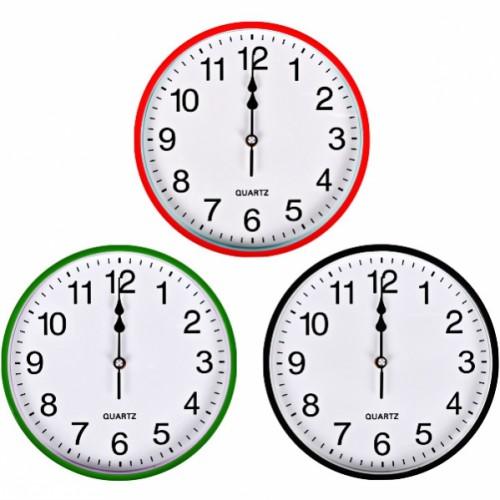 Настенные часы «Круг» цветной корпус, белый циферблат 25,5*4см