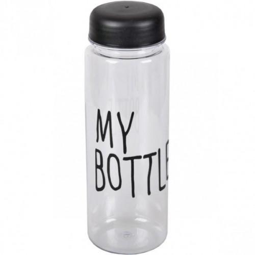 """Бутылочка для воды с крышкой """"My bottle"""" 0,5л, черная"""