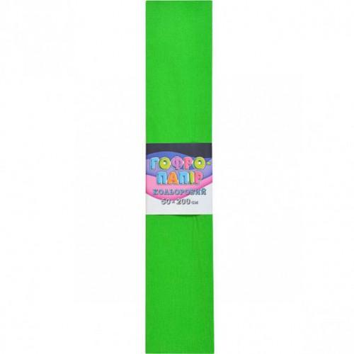 Гофрированная бумага 50*200см, зеленый, 17г/м2 75%