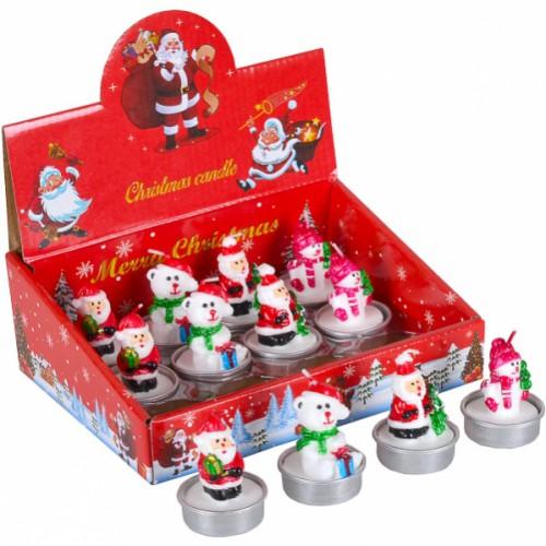 Свеча новогодняя «Дед Мороз, Мишка» 5см