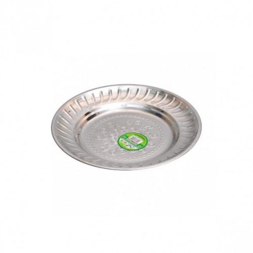 Тарелка металлическая круглая с узором Ø20см