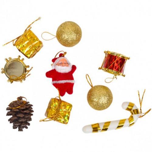 Набор новогодних подвесных украшений 2,3см