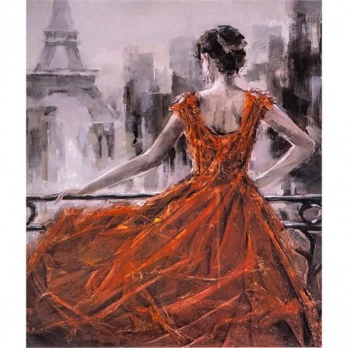 """Картина по номерам """"Взгляд на Эйфелеву башню """" 40*50см"""