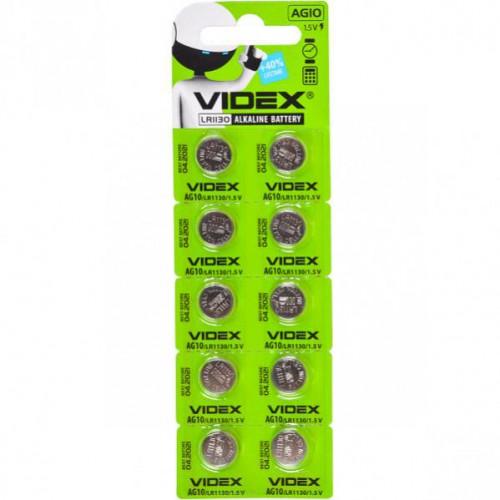 Батарейка Videx «таблетка» AG 10