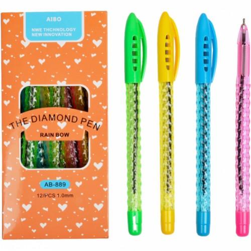 """Ручка шариковая """"Диамант"""" 1мм, синяя"""