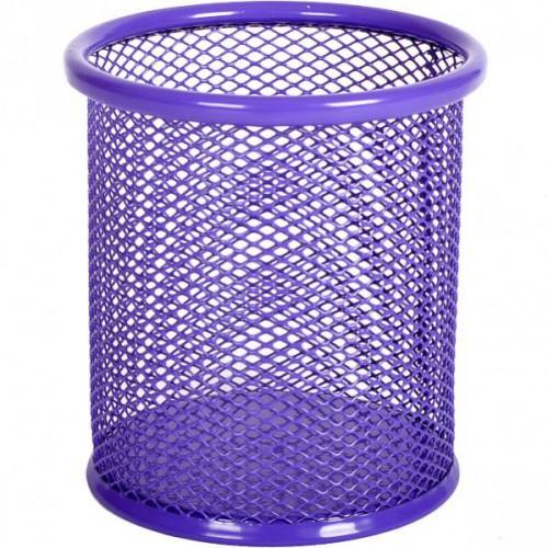 Стакан для ручек металлический-сетка, цветной