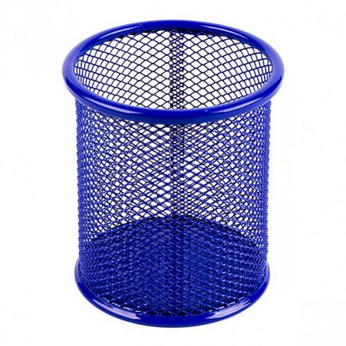 Стакан для ручек металлический-сетка, 9,5*8,5см, цветной