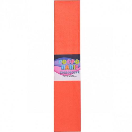 Гофрированная бумага 50*200см, персиковый, 17г/м2 75%