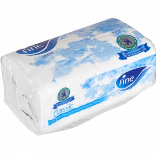 Салфетки бумажные универсальные, 2 слоя, с легким ароматом, в ПЭТ упаковке, белые