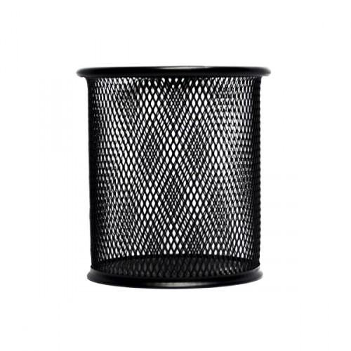 Стакан для ручек - металлическая сетка,  9,5*8,5см, черный