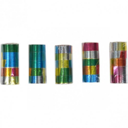 Серпантин разноцветный лазер (1столбик=5колечек)