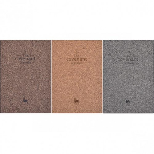 Блокнот кож/зам 21*14,5см, 98л, линия, лист-кремовый, обл.интег